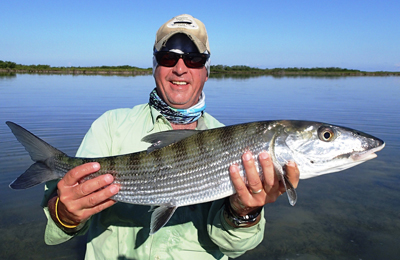 Bump Williams Bonefish on Tan Mantis Shrimp