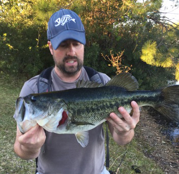 Kieran Mooney caught this 5 1/4 pound bass on a #6 Black & Silver Conehead Zuddler Minnow. The Zuddler is also an effective fly for Steelhead, Trout, Pike and many other species.