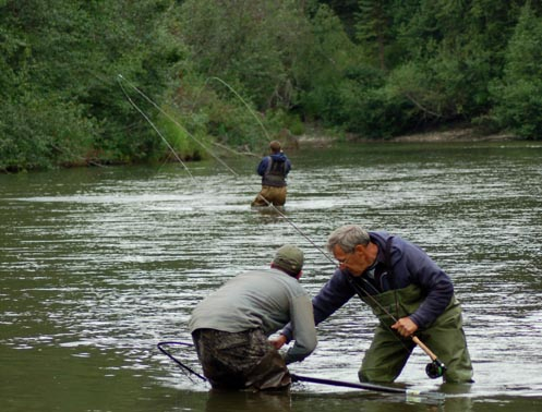 Double Silver Salmon Hook Up, Little Susitna River