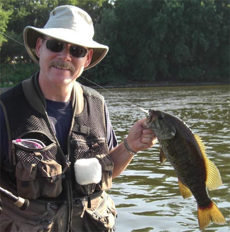 Scott Brown from Shoreview, Minnesota caught this Largemouth Bass on a Zonker.