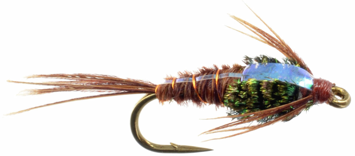 FLASHBACK Pheasant Tail Nymph Trout Flies PHT 3 Pack Fly Fishing Size 10,12,14