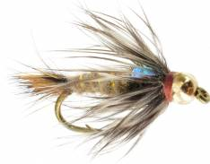 FREE FLY BOX Size 10-14 x 24 Flies #328 Fly Fishing Hares Ear NYMPHS